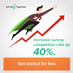 Higher survey completion rate banner for Affiliate Program