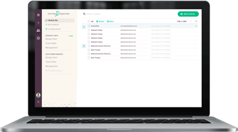 Google Forms' alternative SurveySparrow's Audience Management