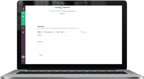 Google Forms alternative SurveySparrow offers Automated Reminder Emails