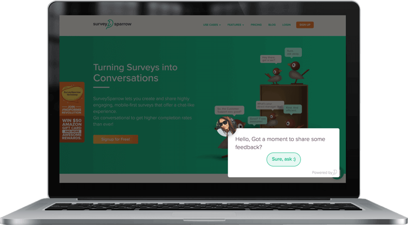 Customisable Embedded Survey by SurveySparrow