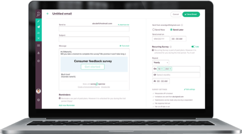 Compare SurveySparrow's automated recurring surveys to SurveyMonkey's manual scheduling system.
