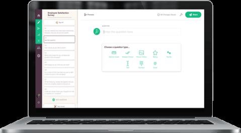 Experience SurveySparrow's intuitive UI to SurveyMonkey's legacy UI clutter.