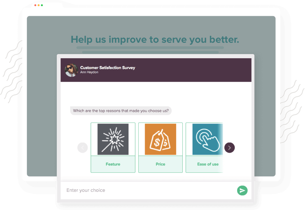 Embed your feedback survey anywhere on the website.