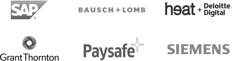 SAP, Baush Lomb, Heat Deloitte, Grant Thornton, Paysafe, Siemens