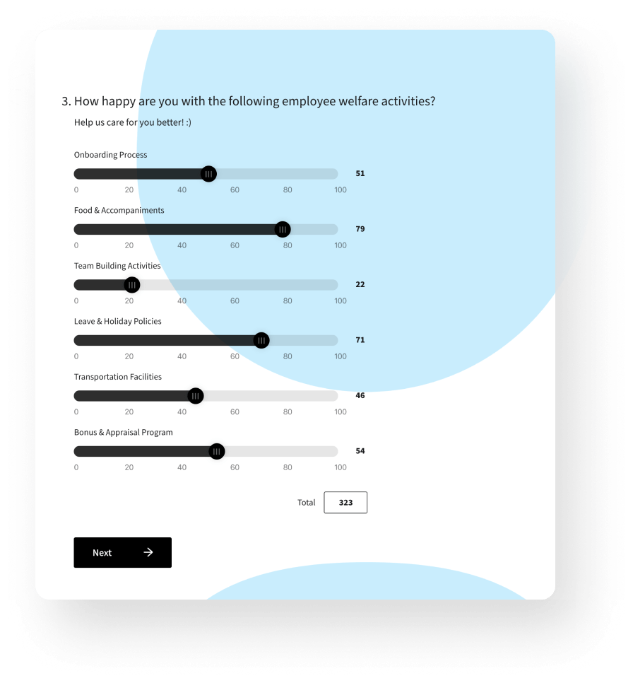 Collect employee engagement data using personalized, conversational surveys.