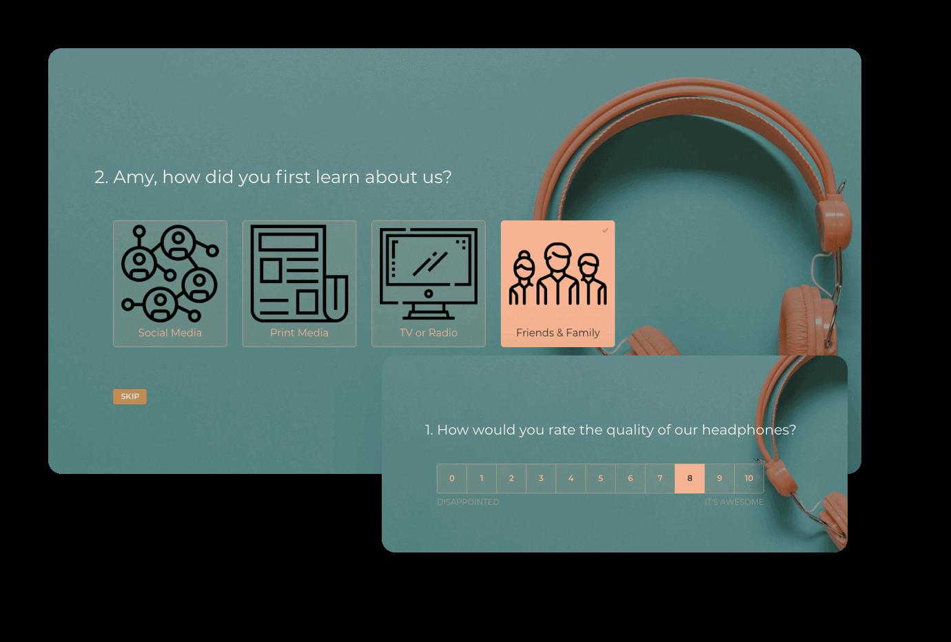 Get more responses using conversational surveys.