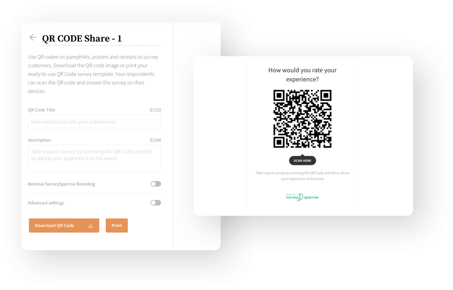 Provide a scannable QR code to your respondents.