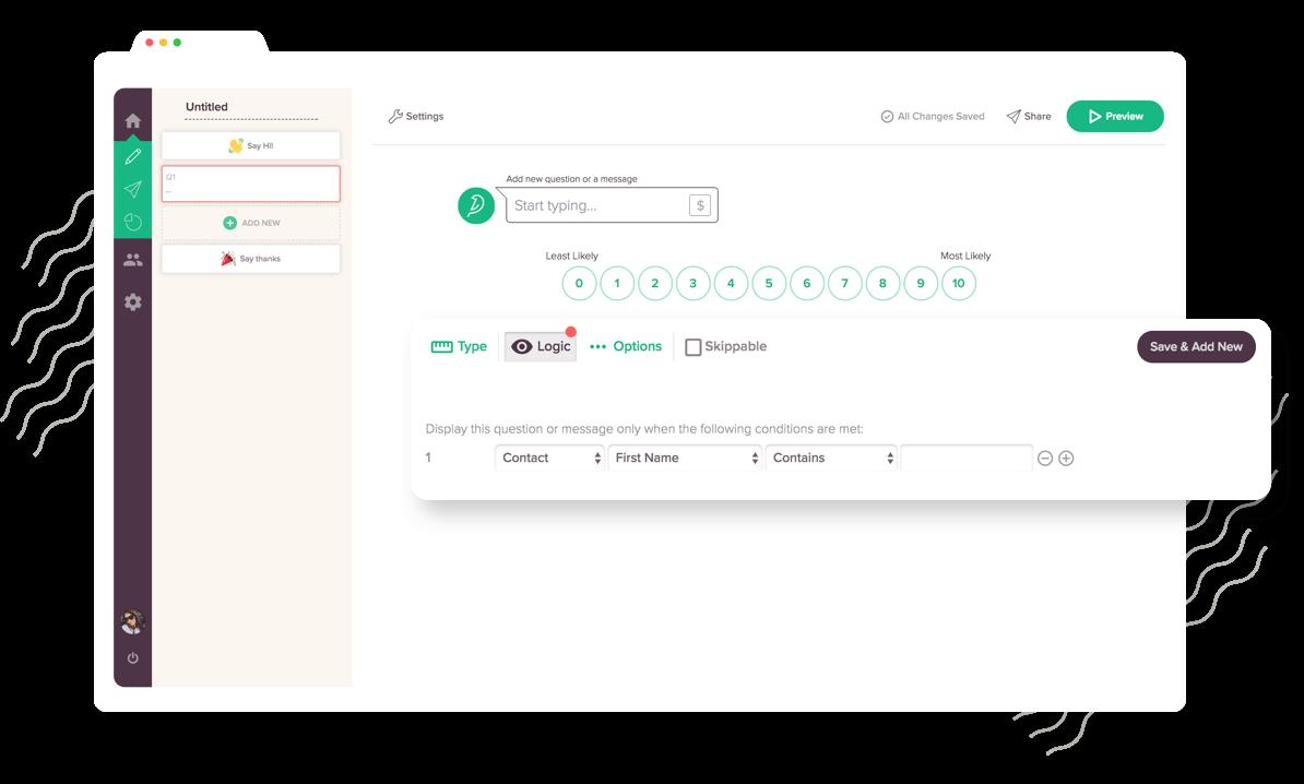Make survey smarter with display logic