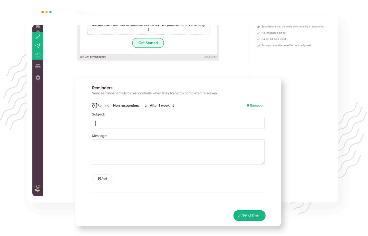 Set automated reminders to engage your survey non-respondents
