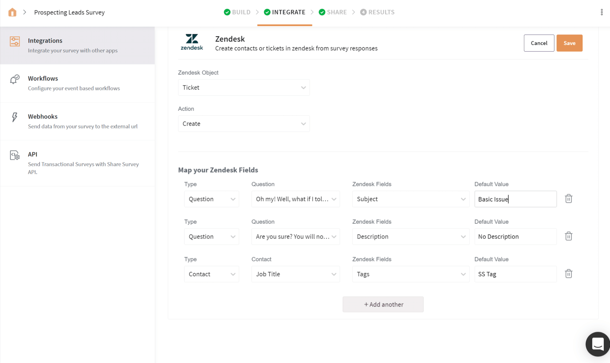 Create new tickets on Zendesk in real-time