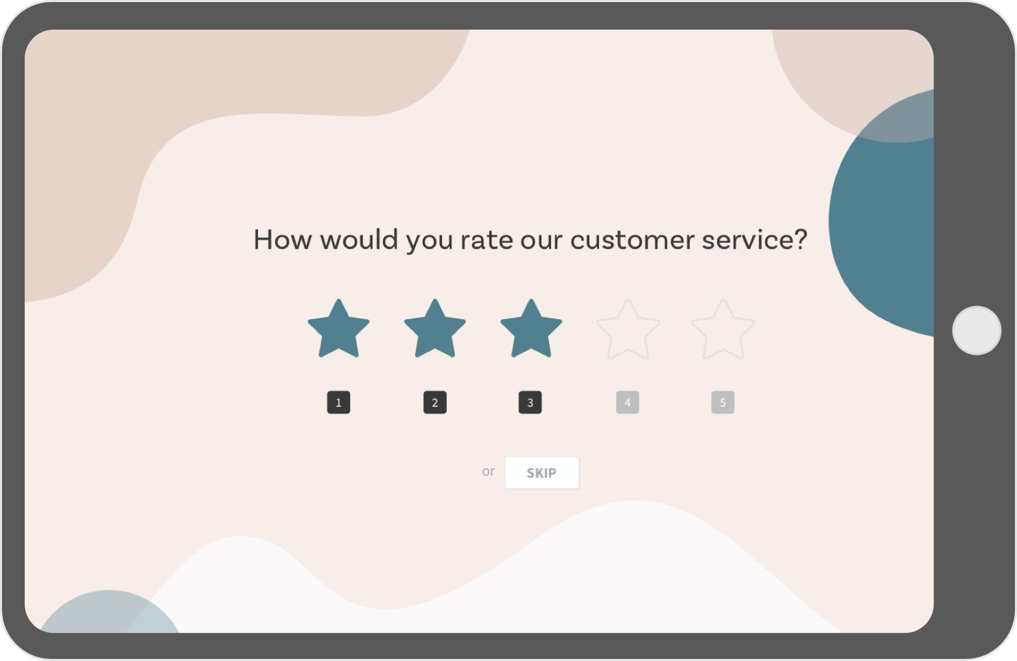 Turn on Kiosk mode in your offline survey tool and collect data.