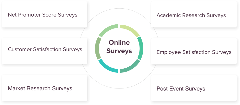 The different types of Online Surveys.