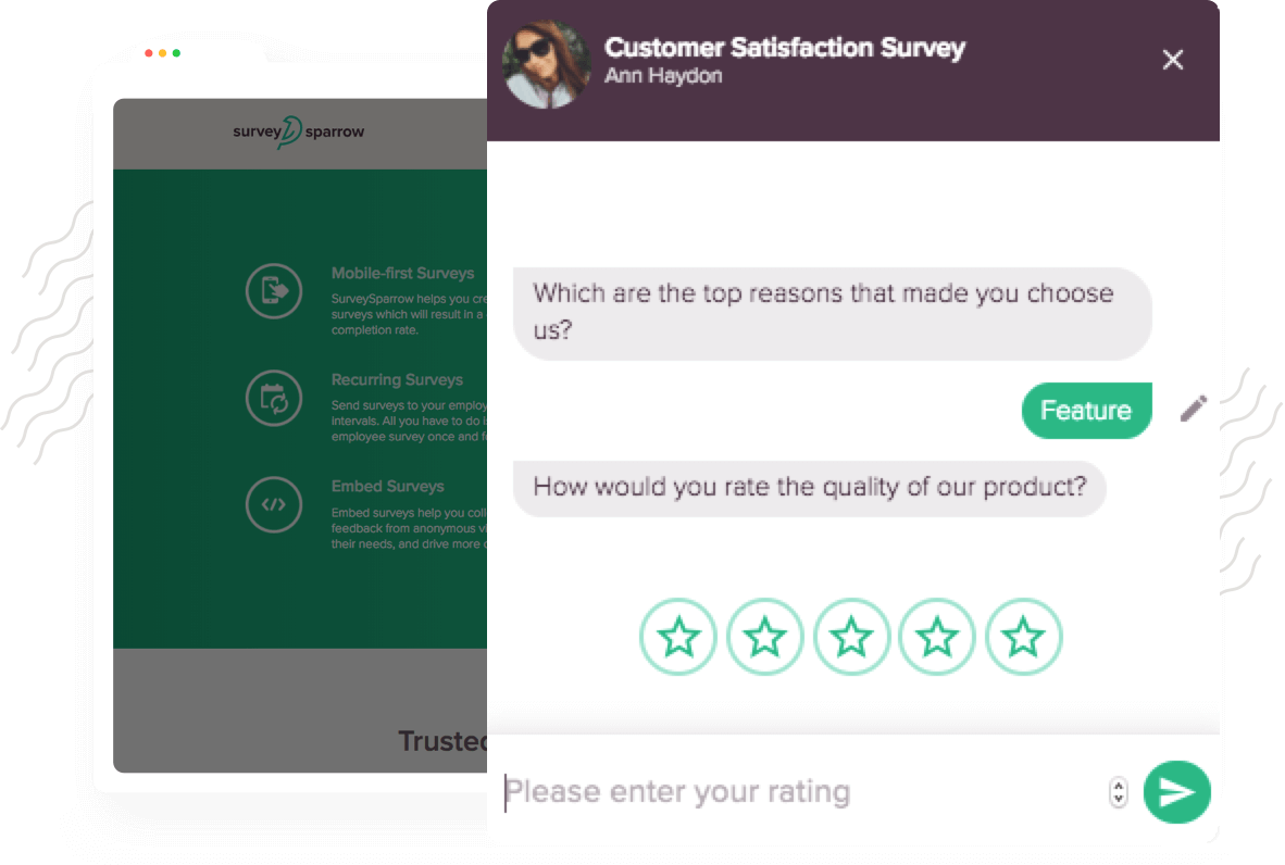 Engage better with your website users with User Invoked Chat-like Surveys.