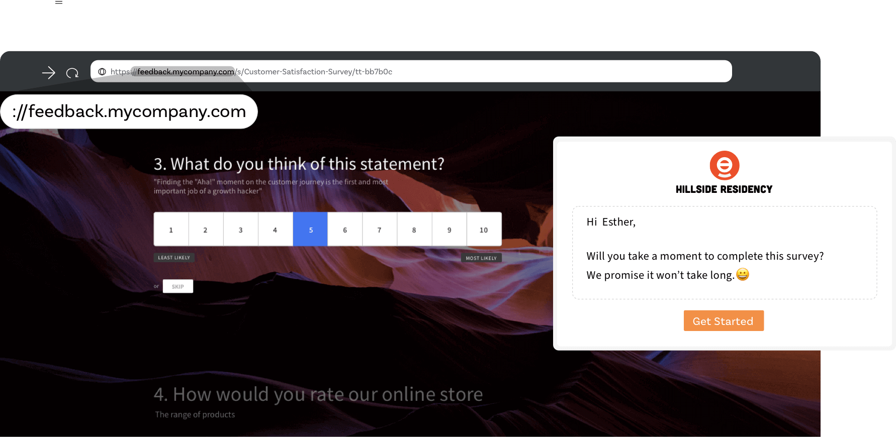 White-label and brand your surveys.